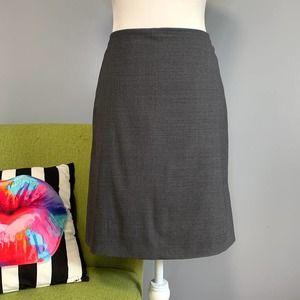 J Crew Grey Wool Straight Pencil Skirt Size 6